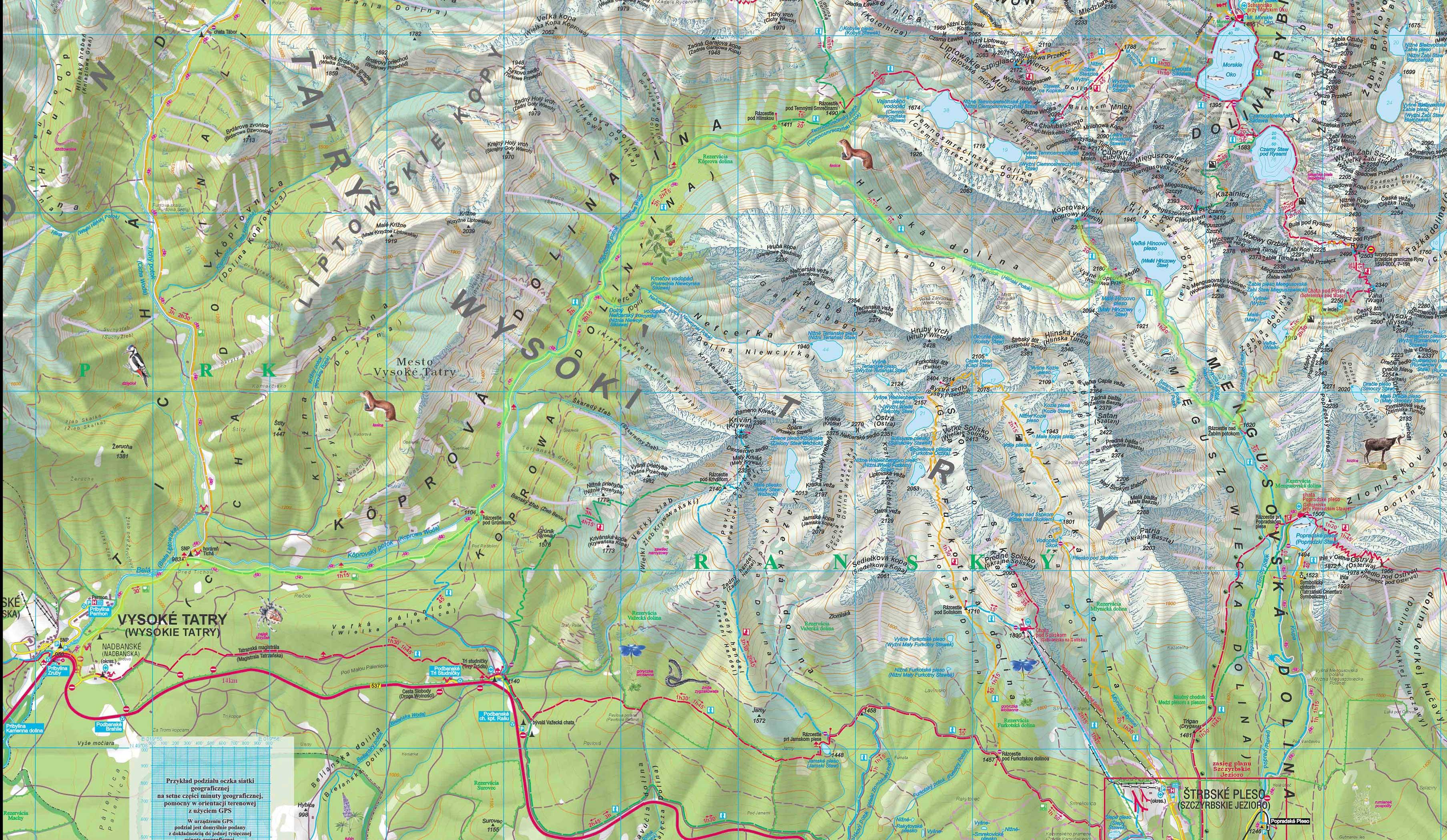 Tatry Wysokie Mapa